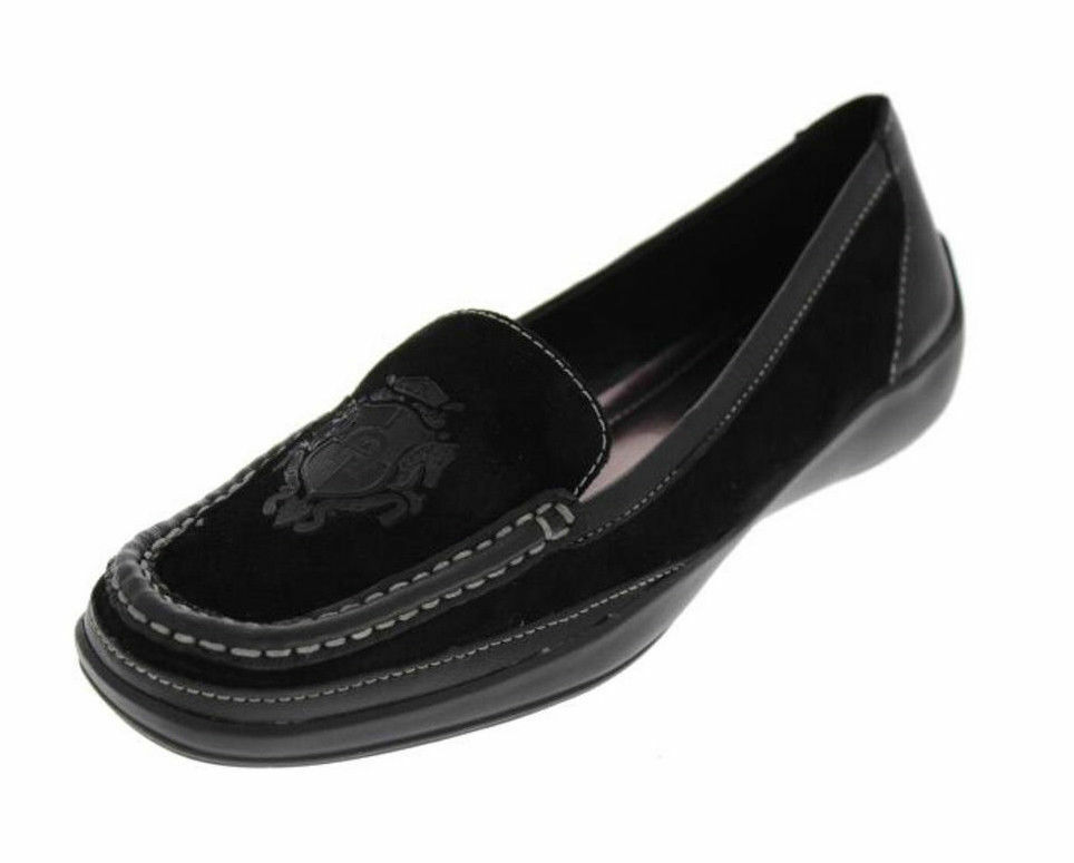 New New New ETIENNE AIGNER Suede Black Flat Comfort Loafer Moccasin Slip On shoes Sz 6 M 1fe383
