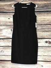 Calvin Klein Size 8 Little Black Dress Sleeveless Sheath Dress NWT