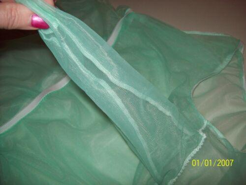 "2 FULL LAYERS Mint Green SHEER NYLON Bubble PANTY Sleeve Pocket BRIEFS 30-42/"""