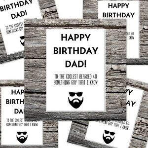 Image Is Loading Funny Happy Birthday Card Dad Age Coolest 40
