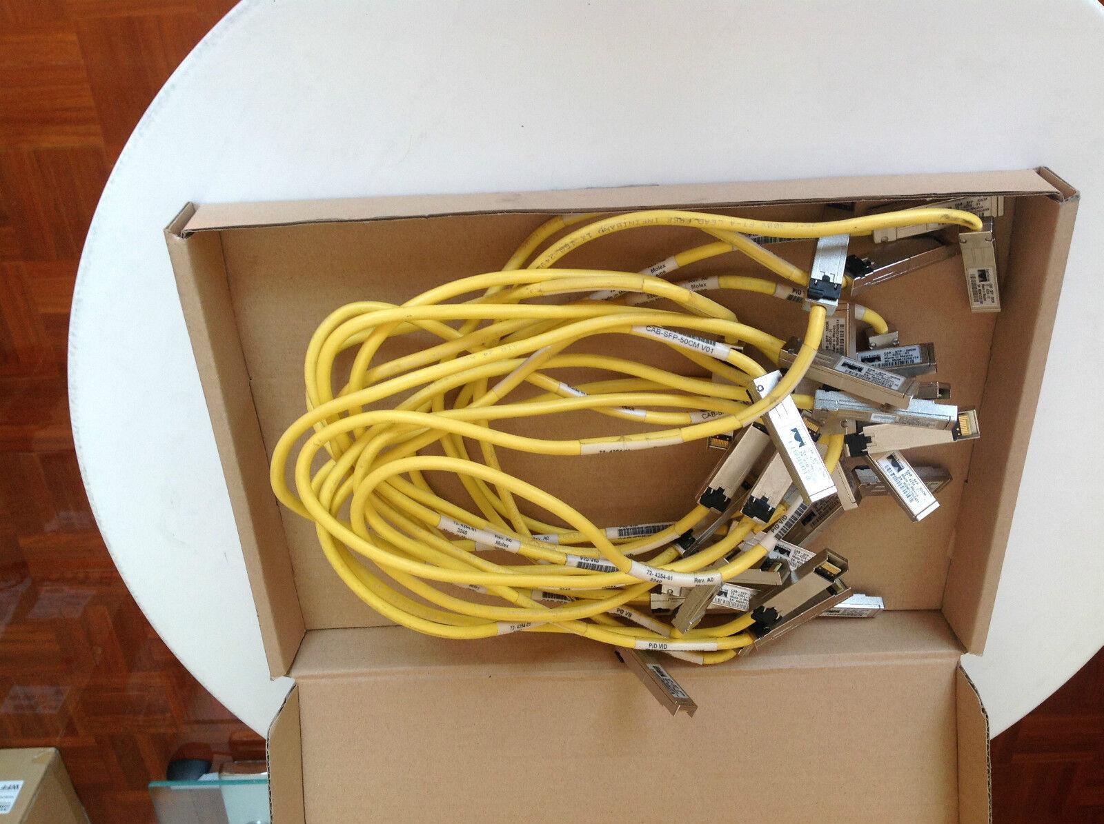 Lot of 16 Cisco CAB-SFP-50CM 72-4254-01 Genuine Cisco with 6 Month Warranty