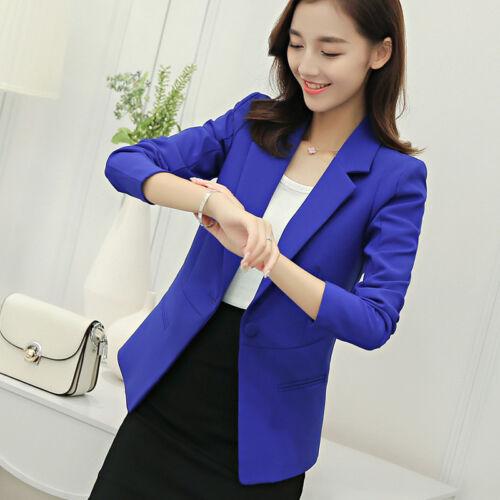 Women OL Work Ladies Long Sleeve Slim Fit Casual Blazer Suit Jacket Coat Outwear