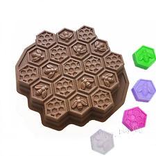 Bee Honeycomb Pull Apart Cake Baking Pan Silicone Soap Gelatin Bath Bomb Mold
