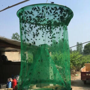 Pest-Control-Fly-Insect-Trap-Reusable-Hanging-Folding-Catcher-Net-Killer-Cage-HL