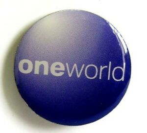 13177 ONE WORLD ONEWORLD ALLIANCE INTERNATIONAL AIRLINE LOGO AVIATION PIN BADGE