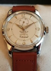 Vintage Automatic Armbanduhr Buren Grand Prix Rotowind-Cal.C546–Gangreserve-NOS
