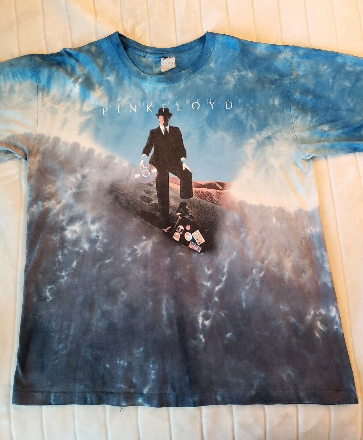 Pink Floyd Wish You Were Here T-Shirt Syd Barrett Gilmour Waters - Rare