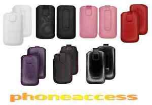Custodia Universale Pelle TAGLIA S ~ HTC P5500 Touch Dual S310 Ossigeno