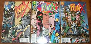 PUNX-Valiant-Acclaim-Comics-1-2-3-Kieth-Griffen-1995-RARE
