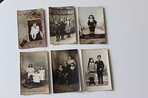6 Foto Antiche Bambini Costumi Inizio Xx ° Siècle