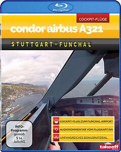 Condor-Airbus-A321-Stuttgart-Funchal-Cockpit-Flug-Blu-ray-NEU-Take-off-TV