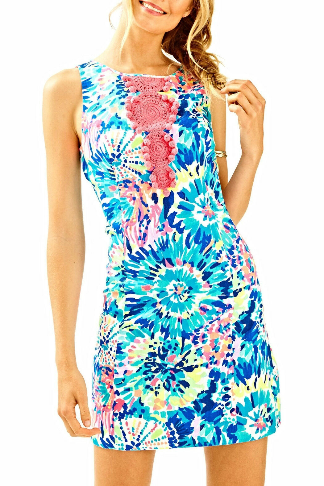LILLY PULITZER ADARA SHIFT DRESS, MULTI COLGoldt, DIVE IN, NWT , 0