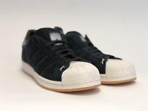 adidas superstar velluto nero shell la mens 10 nuovi!!!ebay