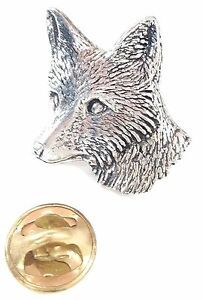 Fox-Head-Handcrafted-in-Solid-Pewter-In-UK-Lapel-Pin-Badge-A6