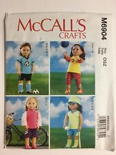 "McCALL/'S PATTERN M6904 FOR AMERICAN GIRL OR ANY 18/""DOLL"