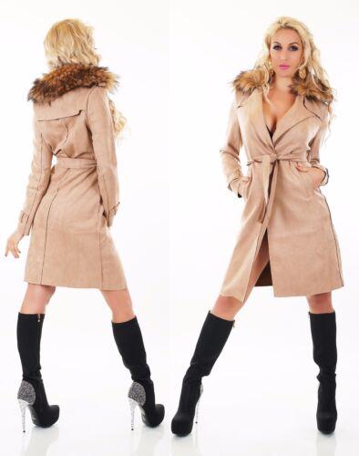 Femme Fourrure Trench Velours Cuir Synthᄄᆭtique Veste Longue Sauvage Coat qGUzMSpLV