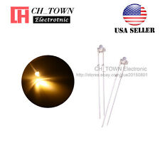 100pcs 1.8mm Transparent Water Clear Warm White Light LED Diodes High Quality