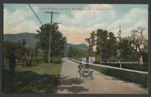 Nyack-On-Hudson-NY-c-1910-Postcard-UPPER-BROADWAY-AND-HOOK-MOUNTAIN-nr-Lexow-Av