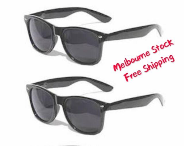 Gangster Black Glasses Sunglasses Bros Blues Brothers Black Frame 50s 70s 80s