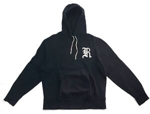 Rugby-Ralph-Lauren-Gothic-R-Patch-Black-Hoodie-Sweatshirt-Size-XL-Polo-Stadium