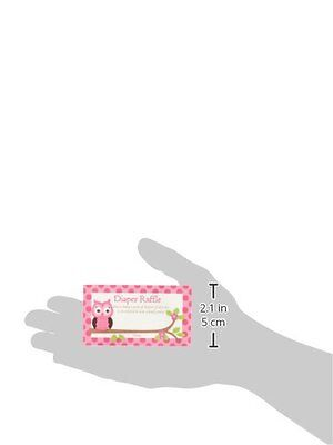 50-cards Pink Chevron Printed Diaper Raffle Tickets Girl Baby Shower Games
