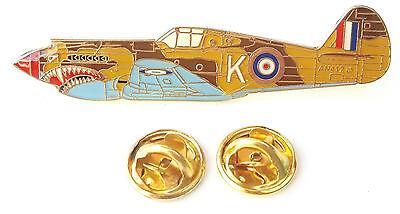 Medals Exonumia Warhawk Aeroplane Side View Enamel Lapel Pin Badge