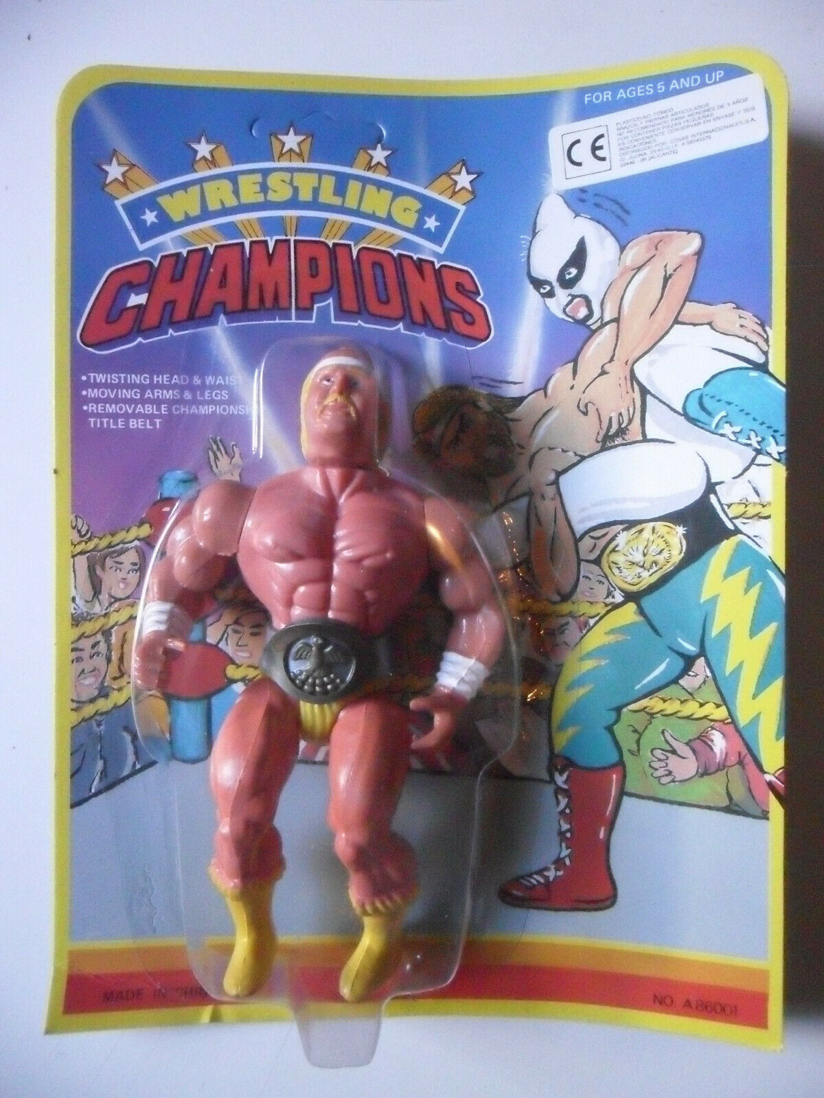 WRESTLING CHAMPIONS C.G HULK HOGAN MOTU WWF avvioLEG KO cifra MOC