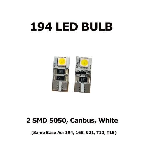 White T10 Same Base as 168 2 2 SMD 5050 Canbus T15 921 194 LED Bulbs