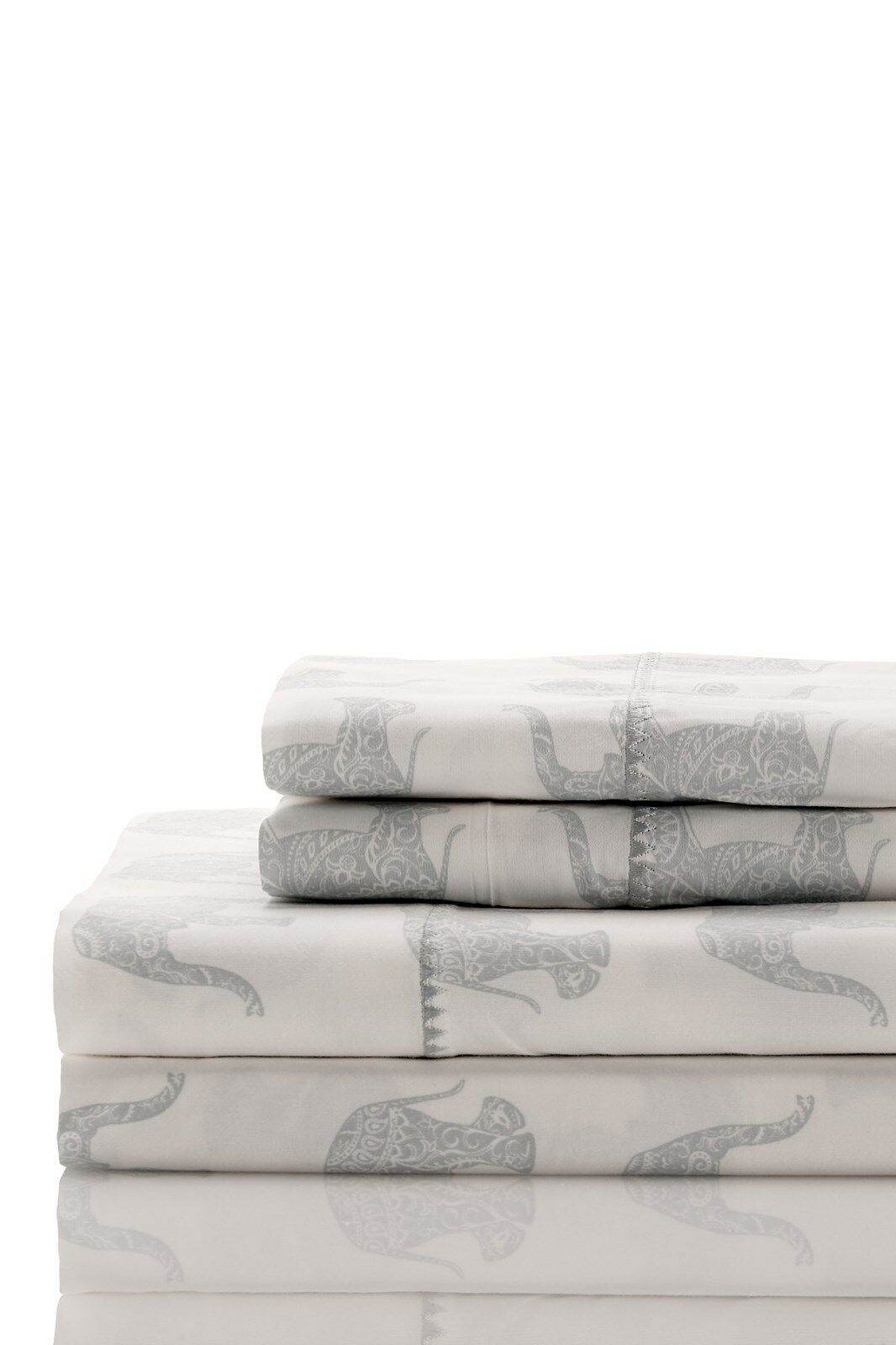 400 Thread Count 100% Cotton Elephant Emb Sheet Set   Duvet Set