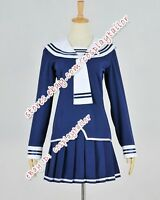 Fruits Basket Navy Blue Sailor Uniform Party Dress Halloween Cosplay Costume