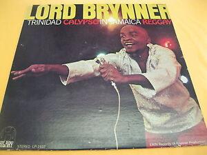 EX-RARO-LP-Lord-BRYNNER-on-HILARY-1937-TRINIDAD-Calypso-en-Jamaica-Reggay