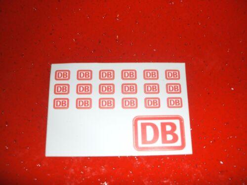 9 x 6mm...nagelneu Deutsche Bahn Aufkleber a 18Stk Tip-Top akt. Version