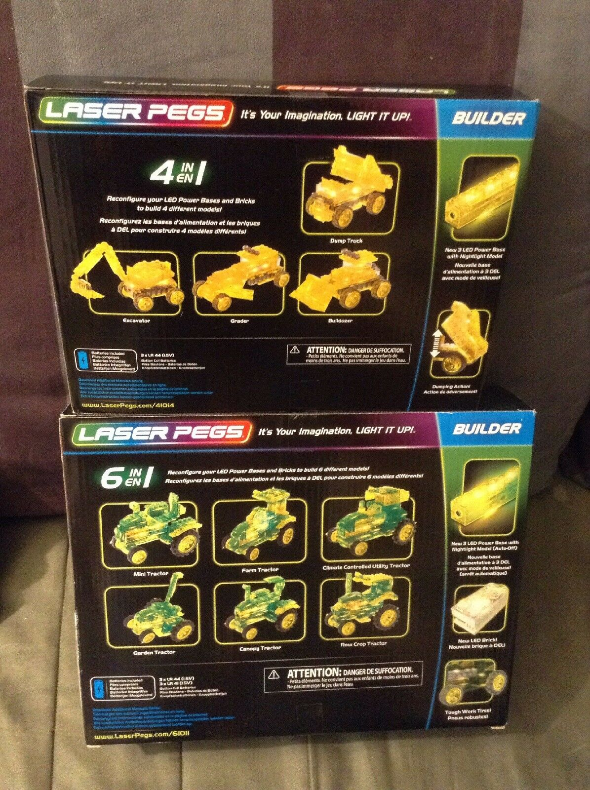 3 Laser Pegs 8-1, 6-1, 4-1 Building Sets Brand Brand Brand New 8b6799