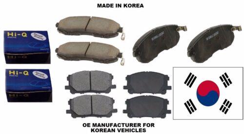 2008-2013 TOYOTA HIGHLANDER Front /& Rear Sangsin HI-Q Premium Ceramic Brake Pads