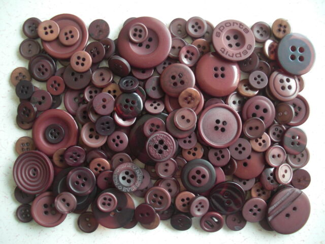 Brown buttons mixed sizes 100 grams