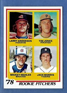 1978-Topps-Rookie-Pitchers-Jack-Morris-RC-Detroit-Tigers-NM-to-NM-MT-Centered