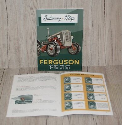 Betriebsanleitung Ferguson Diesel Traktor Fe 35