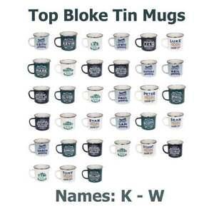 HISTORY-amp-HERALDRY-Top-Type-Tin-mugs-Noms-K-W-Interieur-Exterieur-Camping-Peche