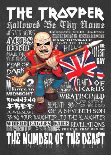 Inspired By Iron Maiden Trooper Eddie Greeting Birthday Card Ebay