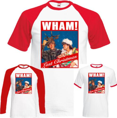 Mens Xmas George Micheael Unisex Tee Top CD Album WHAM LAST CHRISTMAS T-SHIRT