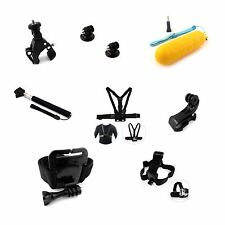 Essential Accessories Bundle Kit For GoPro Hero 5 4 3+ 3 2 Black Silver Session