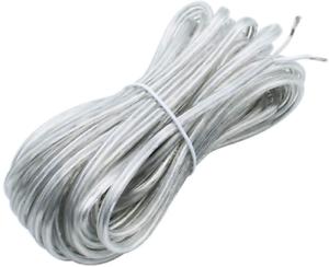 Kingyh 10M Fil Électrique Transparent 2 Fils 0,75 Mm² Plat Et Flexible Pvc Cui