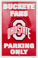 """Ohio State Buckeyes Fan Parking Only 12"""" x 18"""" Metal Sign Man Cave USA SHIPPER"""