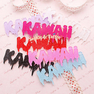 Glitter Spooky Kawaii Word Laser Cut Acrylic Pieces | Acrylic Pieces Crafts 7pc