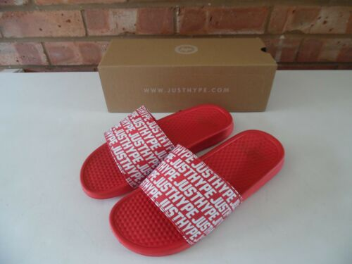Branded Justhype di 8 Boxed Uk Red Slider unisex Hype qB0wfCx 57bed97d0ea