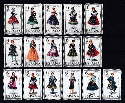 Briefmarken Spanien Postfrisch Trachten Aus 1967 Und 1968 16 Werte Siehe Bilder