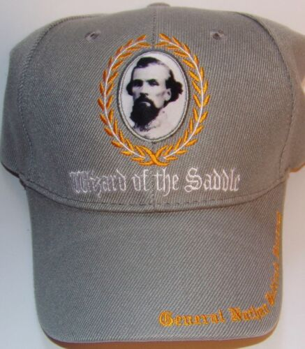 CONFEDERATE GENERAL NATHAN B FORREST CAP NEW EMBROIDERED GRAY HAT