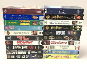 VHS-Tape-Lot-Men-In-Black-Mighty-Ducks-Harry-Potter-Grumpier-Old-Men-20-Total