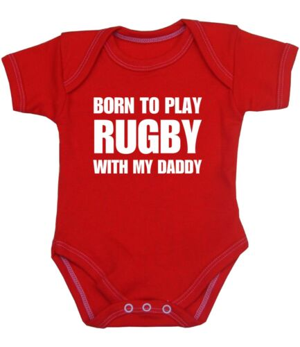 BabyPrem Baby Clothes RUGBY DADDY Slogan Novelty One-Piece Bodysuit 0-12M