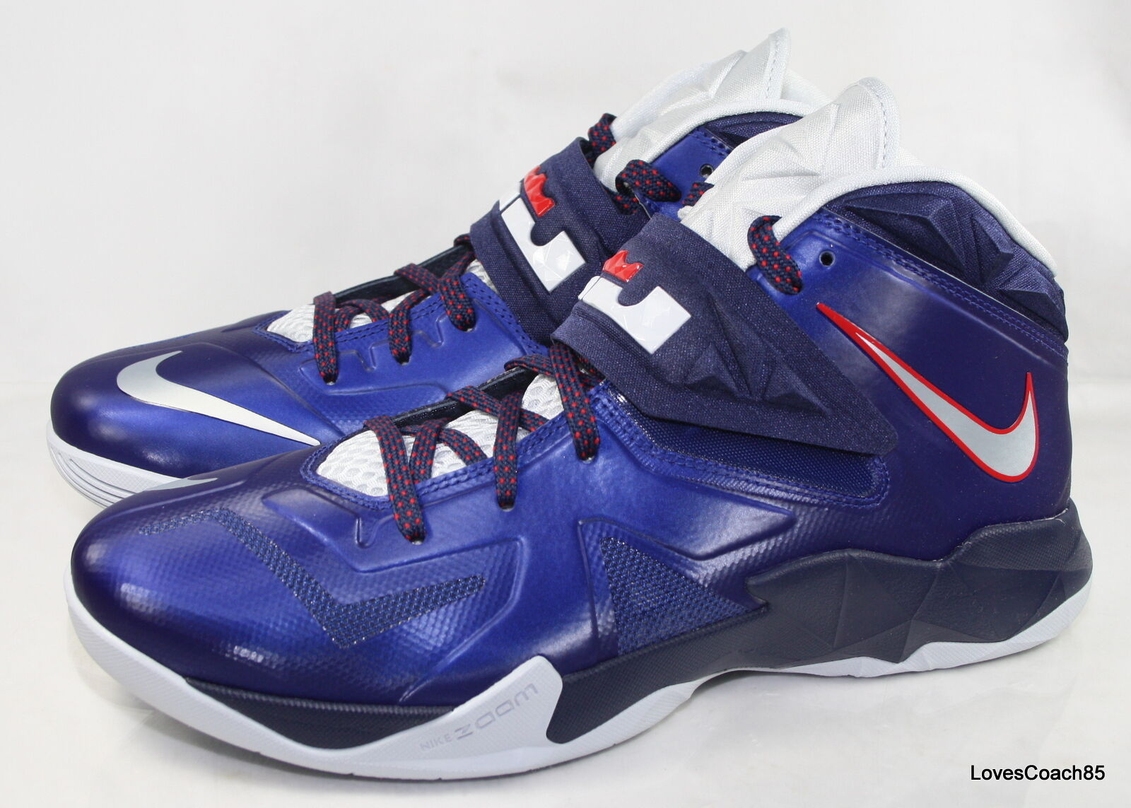 05795ab4b94 ... Nike Zoom Soldier VII Size 11 Deep Royal Blue Platinum-Navy-Red 599264  ...